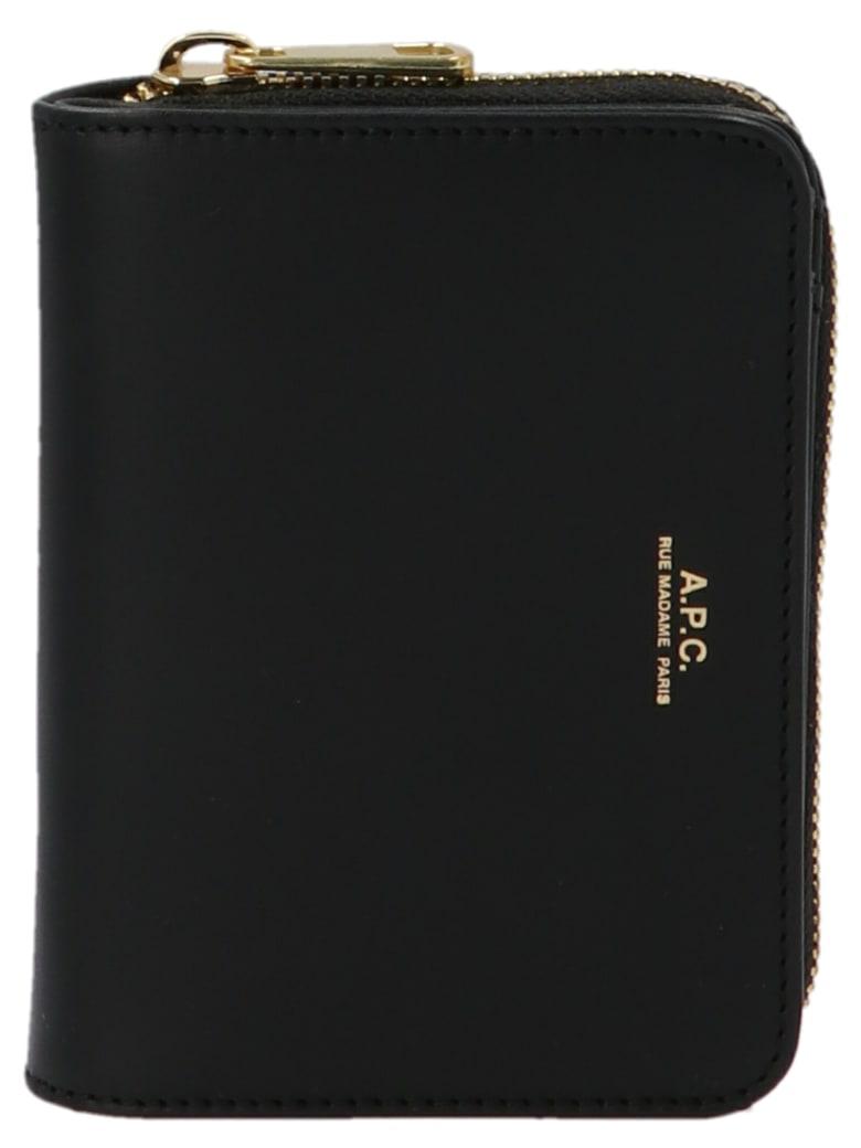 A.P.C. 'compact Emanuelle' Wallet - Black