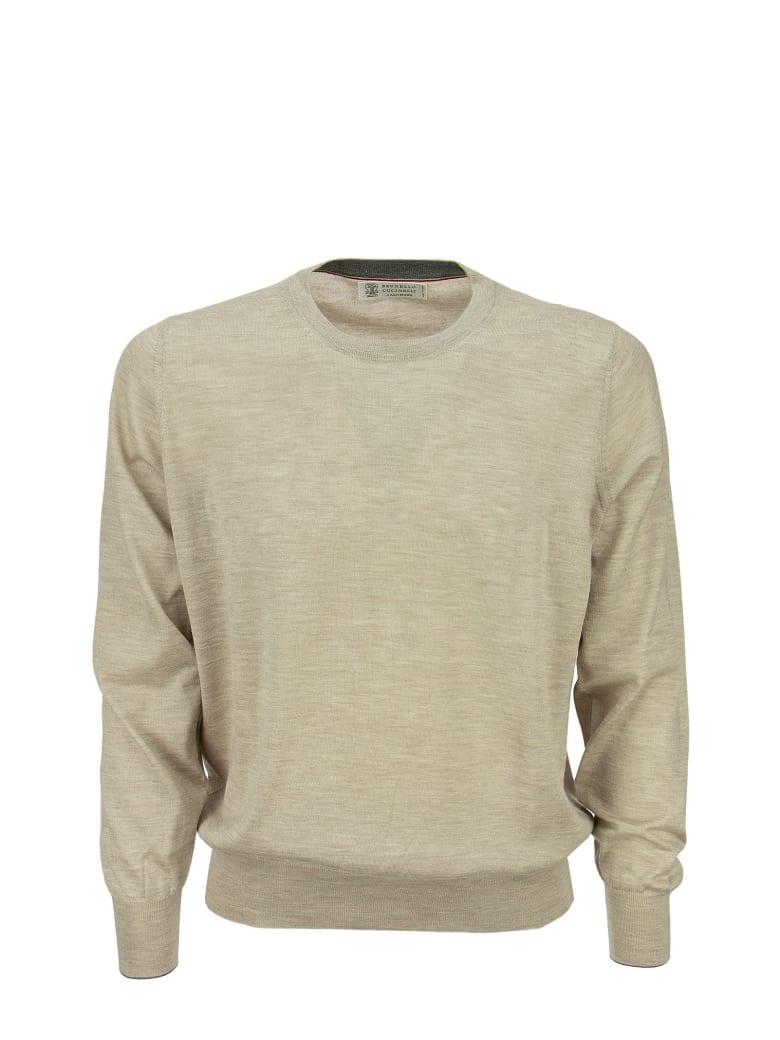 Brunello Cucinelli Lightweight Cashmere And Silk Crew-neck Sweater - Sand