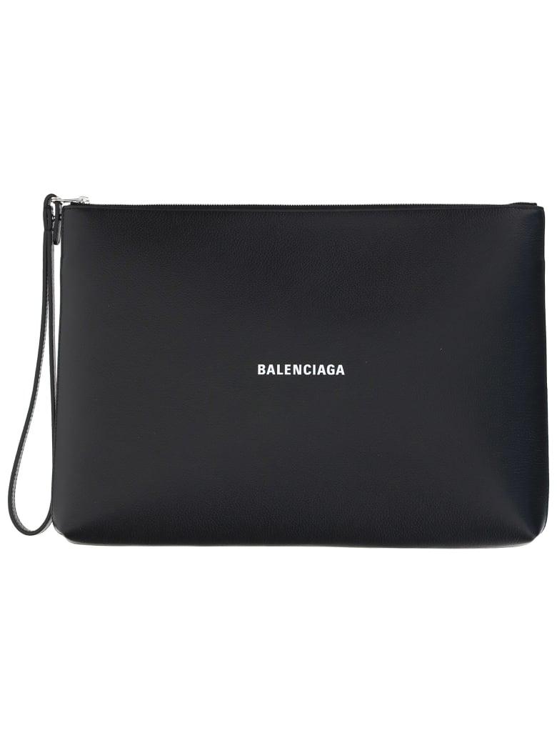 Balenciaga Pouch - Black/l white