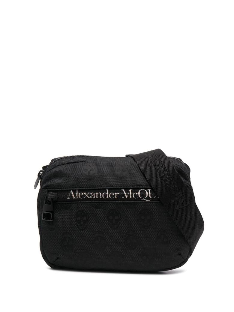 Alexander McQueen Man Black Biker Skull Urban Waist Bag - Black