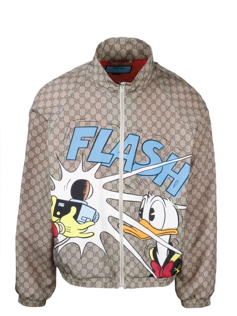 Gucci Gg Donal Duck Disney X Blouson - Camel/Blu