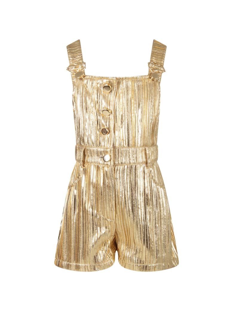 Le Gemelline by Feleppa Gold Overall For Girl - Gold
