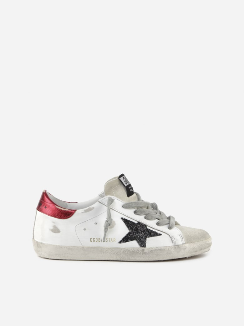 Golden Goose Superstar Classic Sneakers In Leather And Suede - White