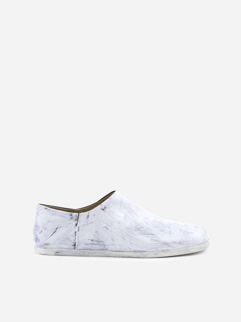 Maison Margiela Tabi Bianchetto Leather Slip-on Loafers - White