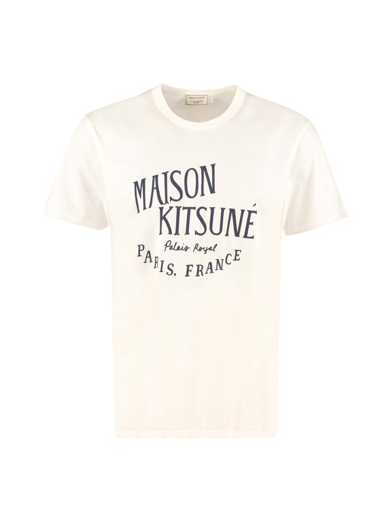 Maison Kitsuné Palais Royal Cotton T-shirt - panna