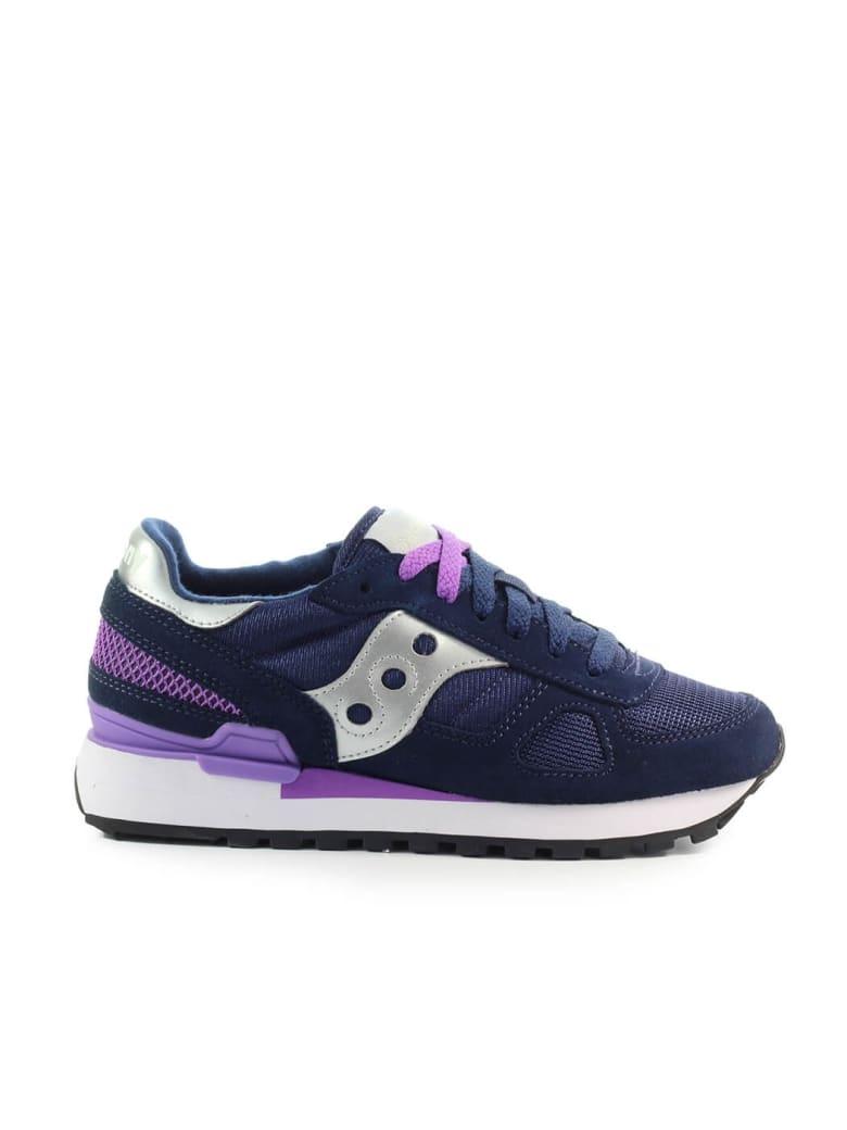 Saucony Shadow Original Navy Blue Purple Sneaker - Blu / Lilla