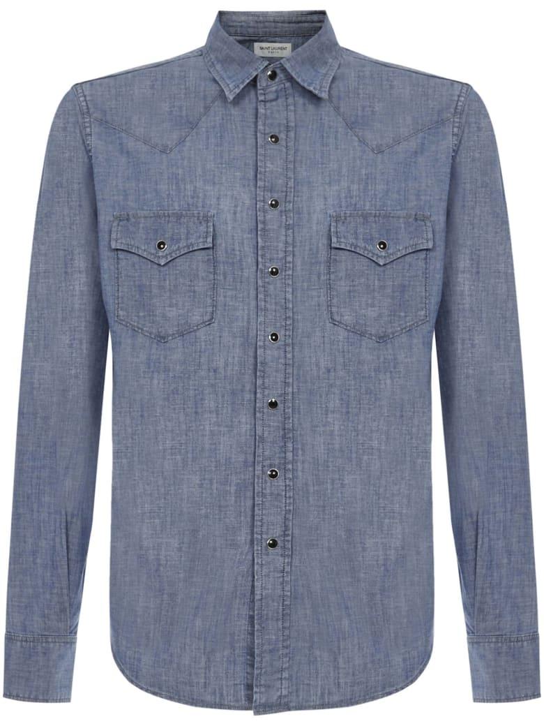 Saint Laurent Shirts - Blue