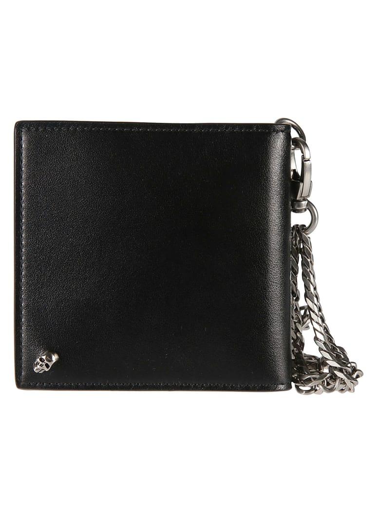 Alexander McQueen Chain Detail Wallet - Nero