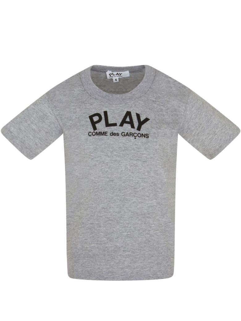 Comme des Garçons Play Grey T-shirt For Kids - Grey