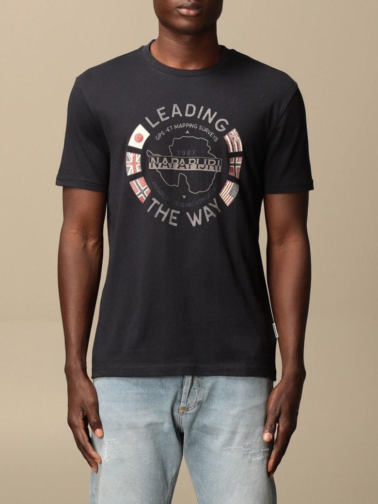 Napapijri T-shirt Napapijri Cotton T-shirt With Logo - Blue