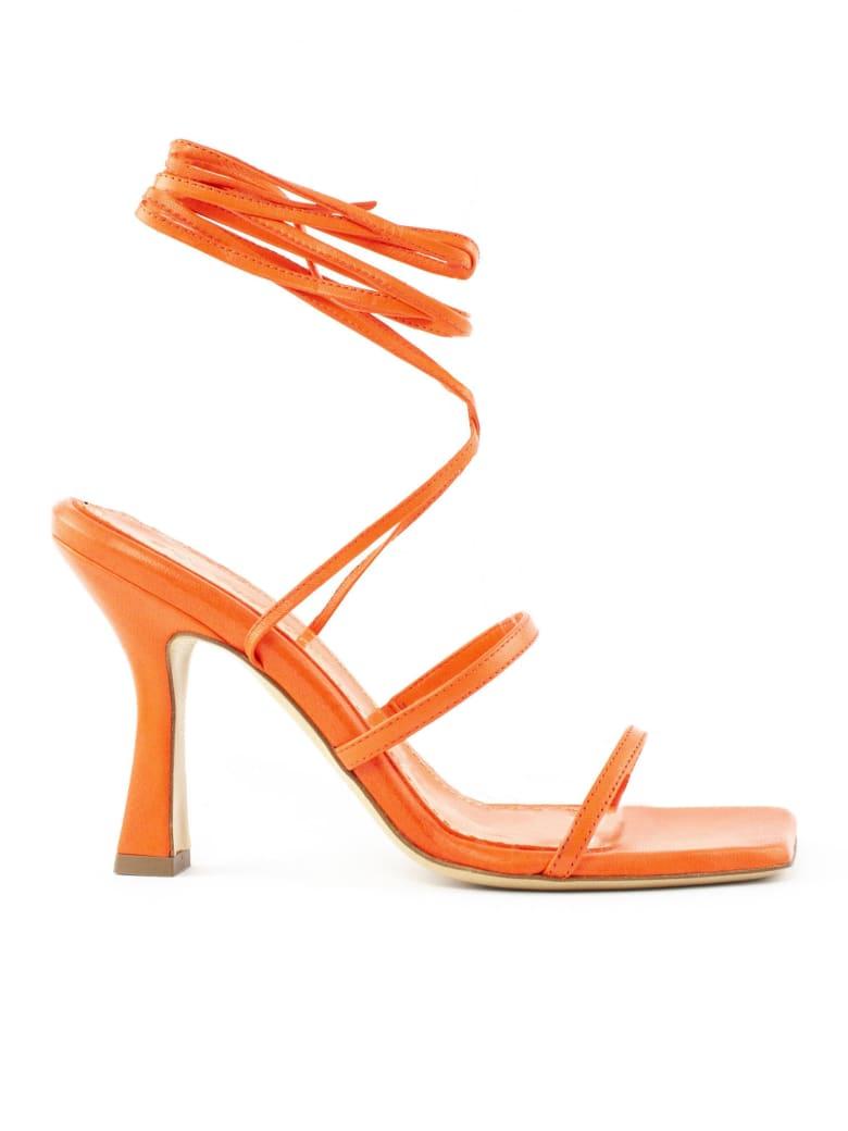 Aldo Castagna Lisa Orange Leather Sandals - Corallo