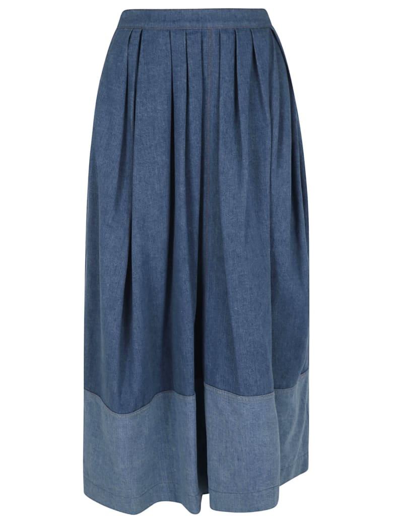 Chloé Wide Fit Trousers - Blue