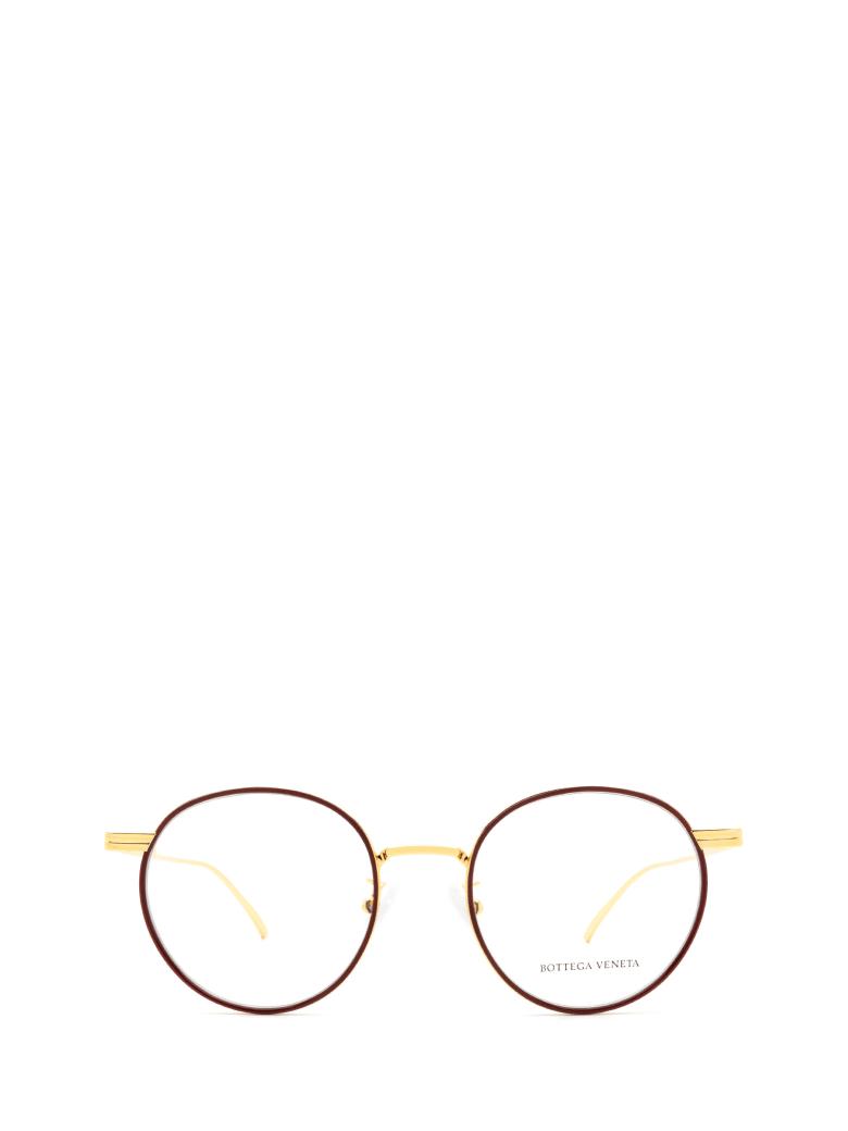 Bottega Veneta Bottega Veneta Bv1017o Burgundy & Gold Glasses - Burgundy & Gold