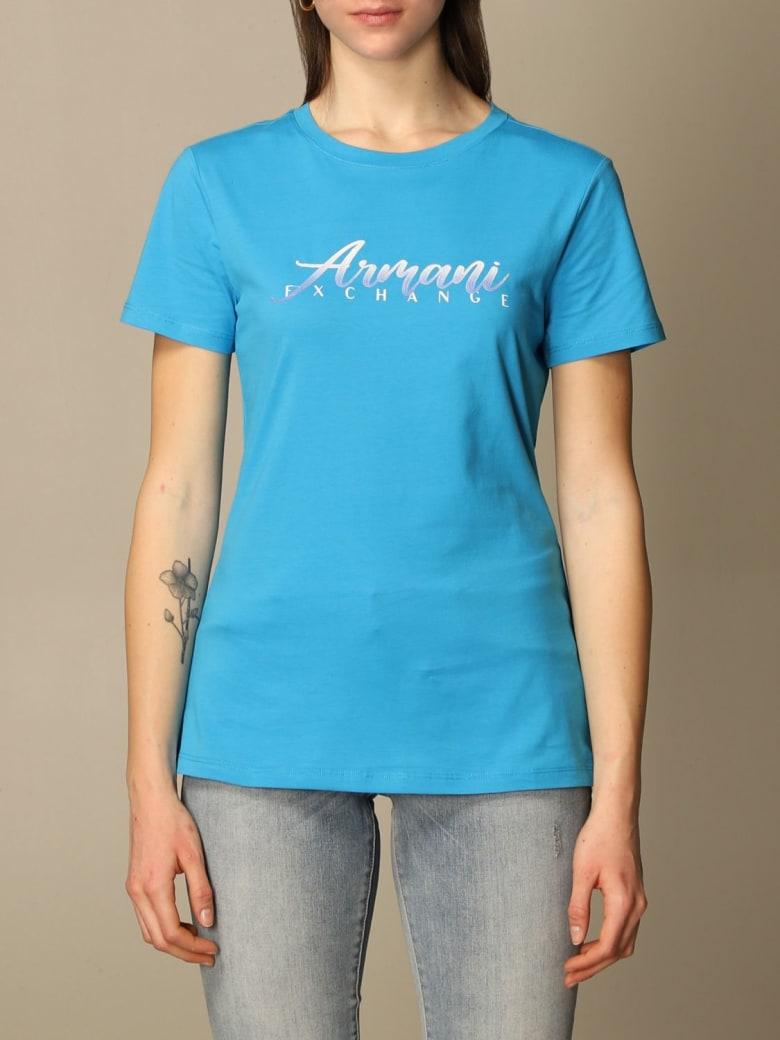 Armani Collezioni Armani Exchange T-shirt Armani Exchange T-shirt With Logo - Turquoise