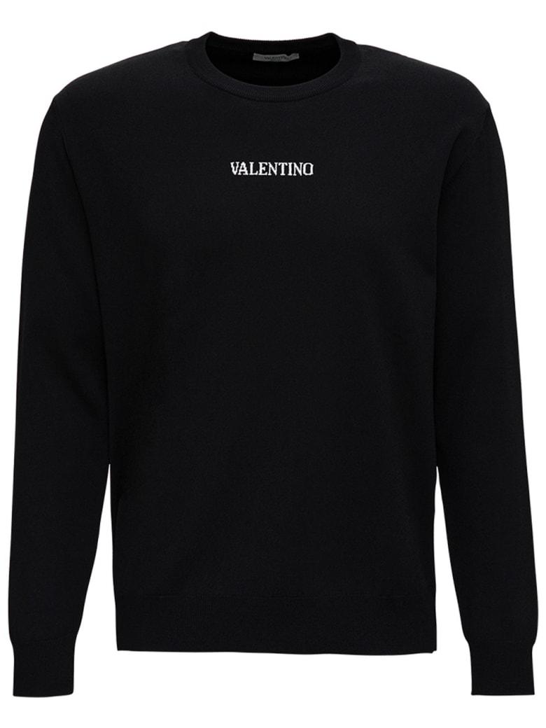 Valentino Viscose Sweater With Logo - Black