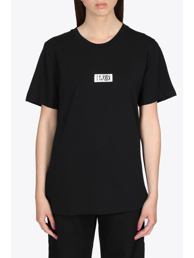 MM6 Maison Margiela Label Logo T-shirt - Nero