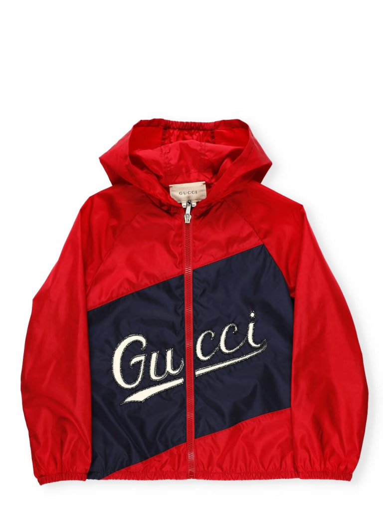 Gucci Jacket With Hood - LIVE RED/MIX