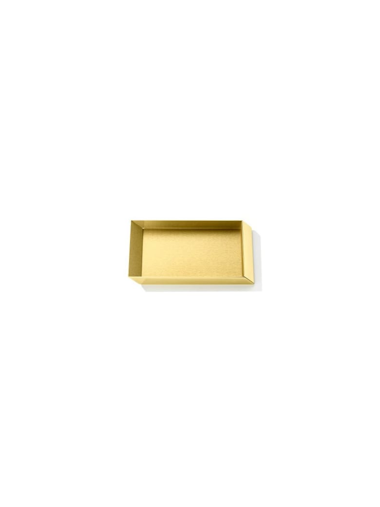 Ghidini 1961 Axonometry - Rectangular Small Tray Polished Brass - Polished brass