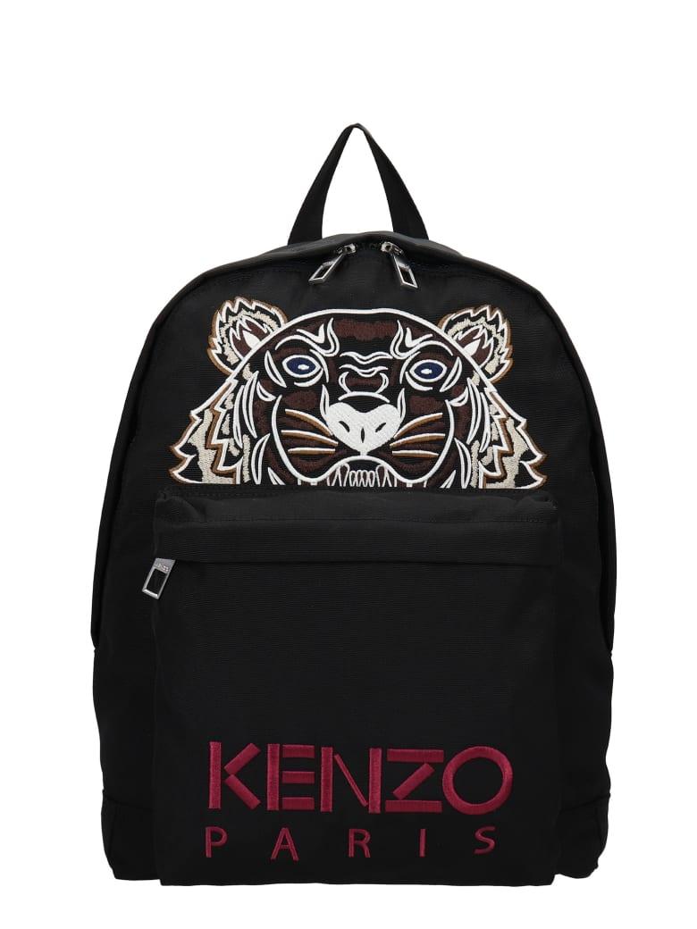 Kenzo Backpack In Black Polyester - black