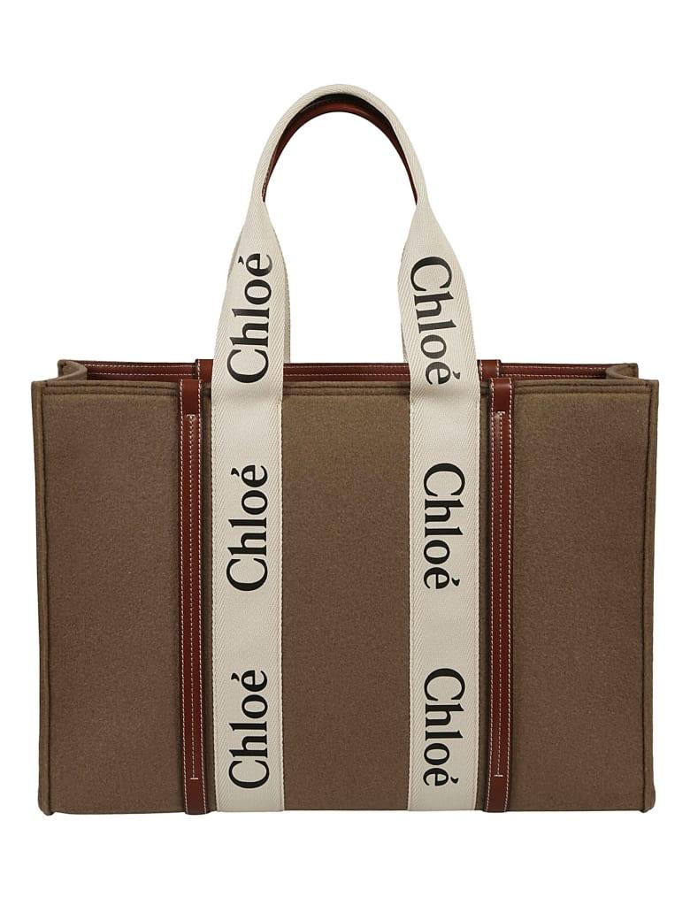 Chloé Logo Tote - Light Brown