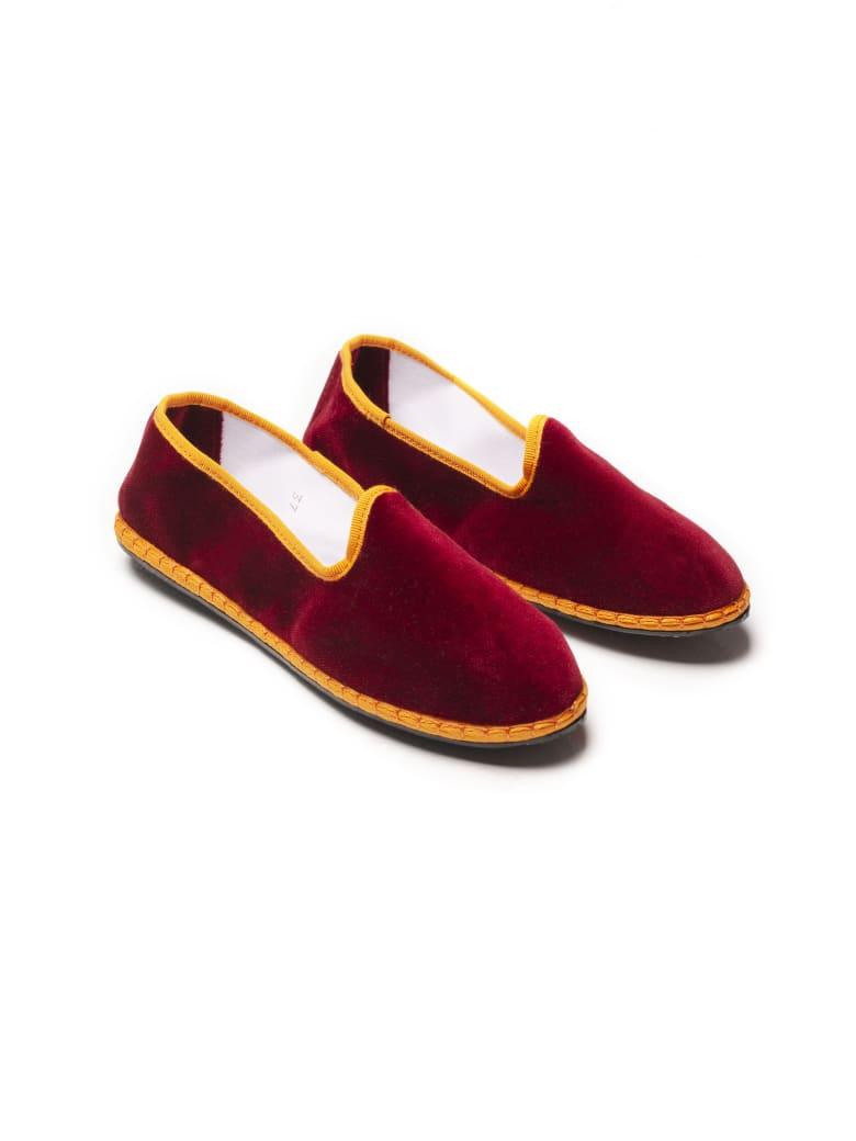 Le Sur Friulana Loafer - Red & Orange