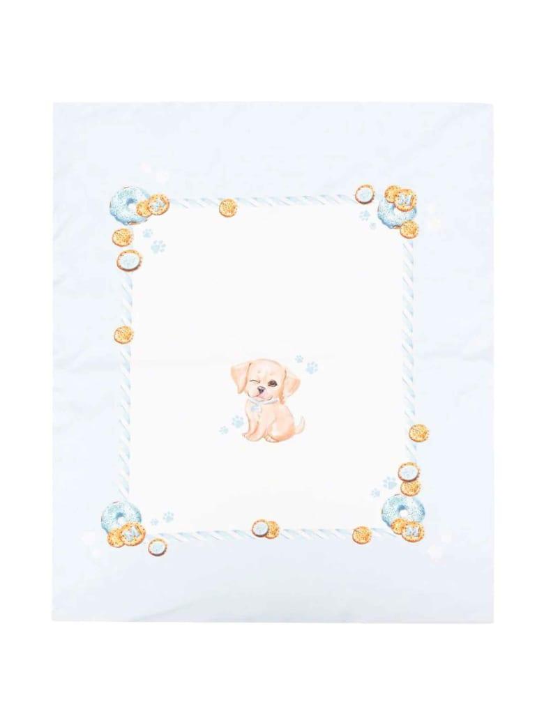 Monnalisa Newborn Blanket - Panna/celeste