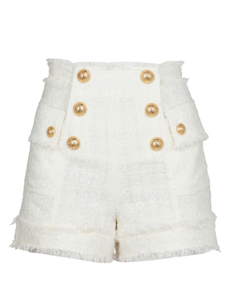 Balmain Short With Buttons - NATUREL