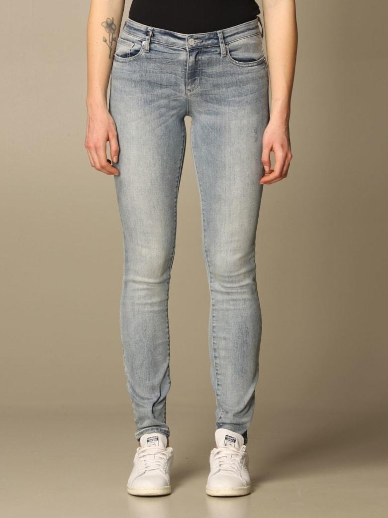 Armani Collezioni Armani Exchange Jeans Armani Exchange Jeans In Skinny Washed Denim - Stone Washed