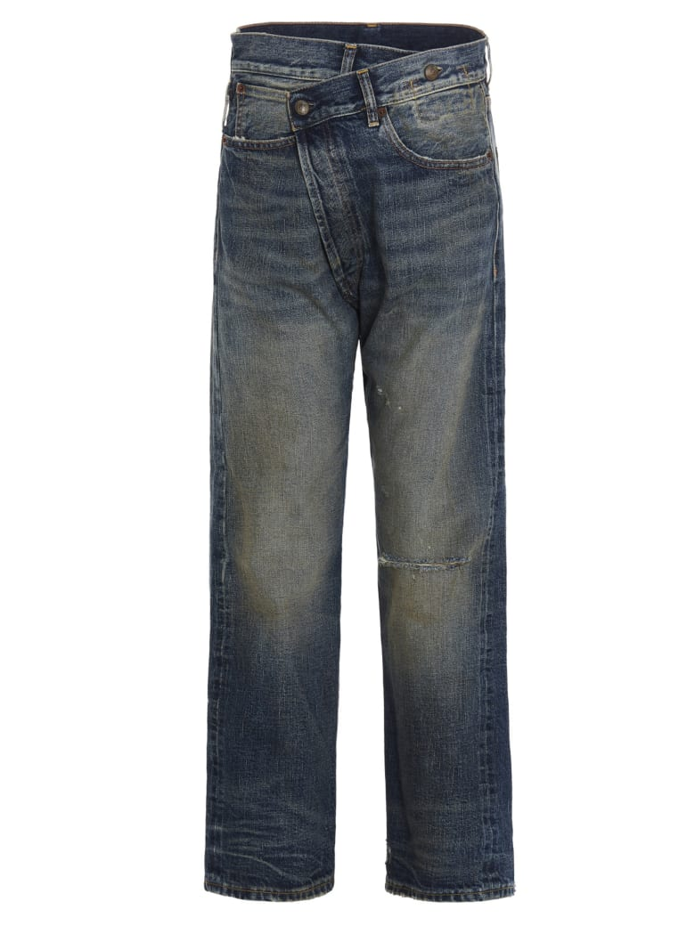 R13 'crossover' Jeans - Blue
