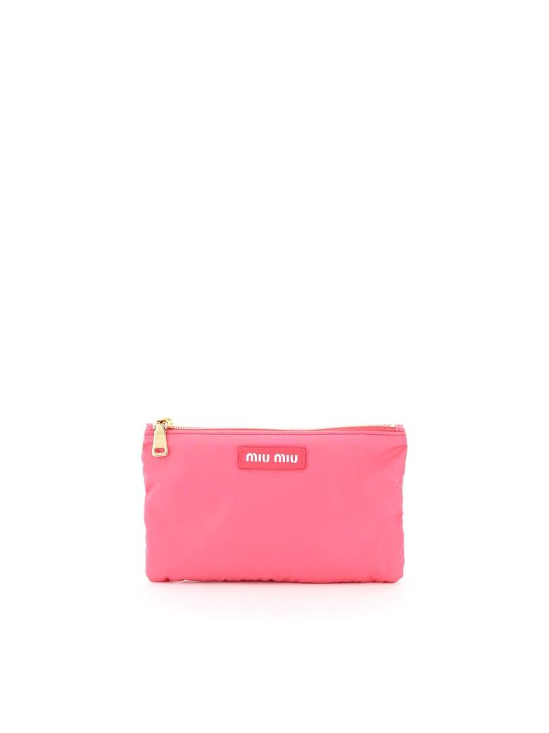 Miu Miu Foldable Nylon Tote Bag - FUXIA