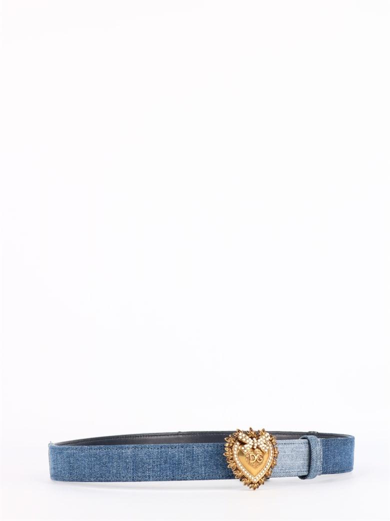 Dolce & Gabbana Devotion Denim Belt - Denim