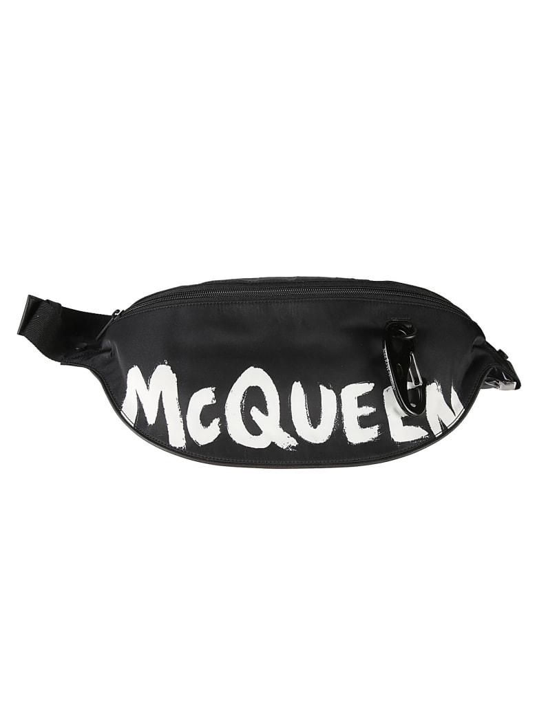 Alexander McQueen Logo Print Belt Bag - Nero
