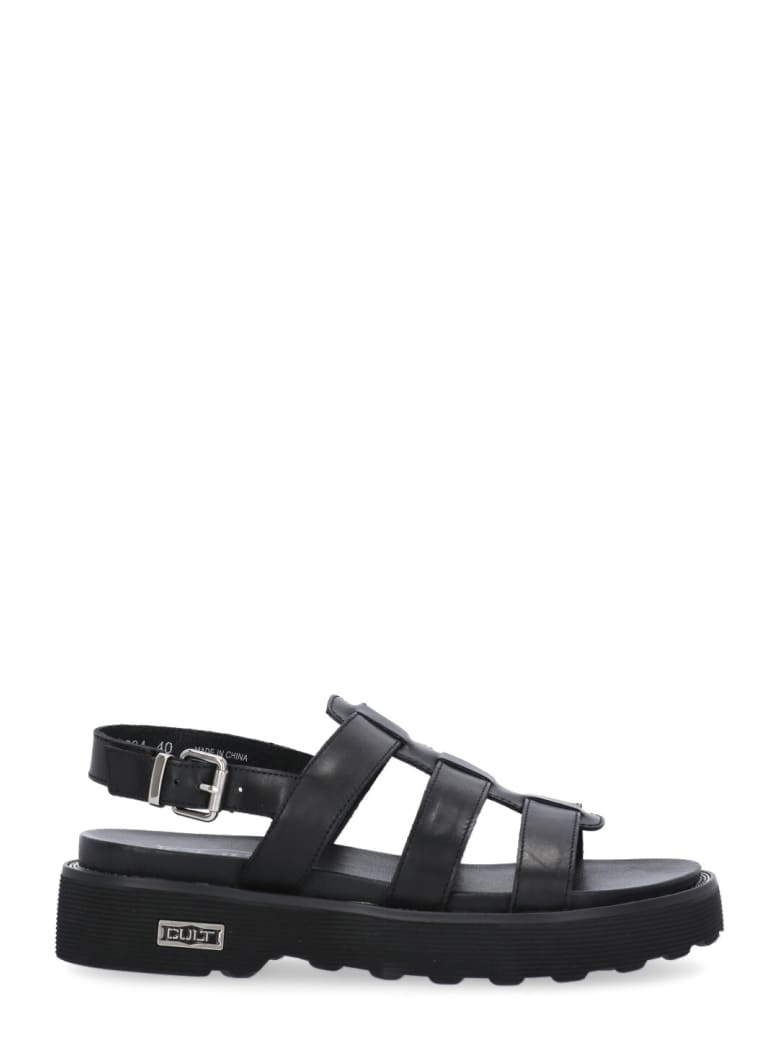 Cult Leather Ziggy Sandal - BLACK