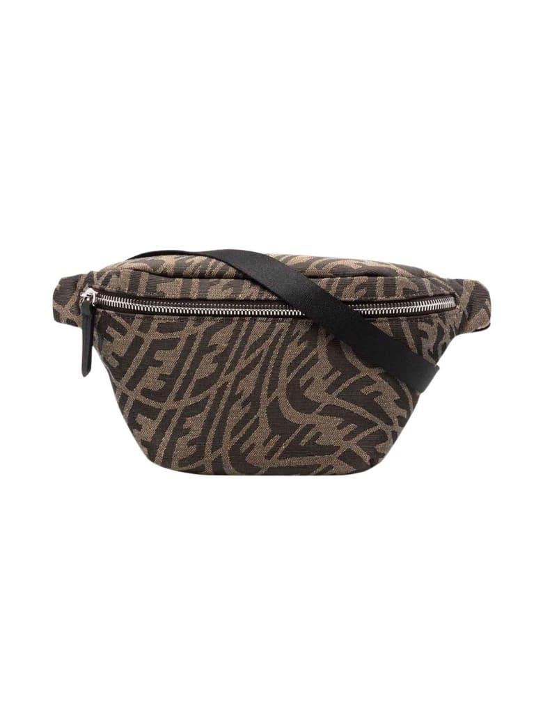 Fendi Unisex Brown Belt Bag - Nero