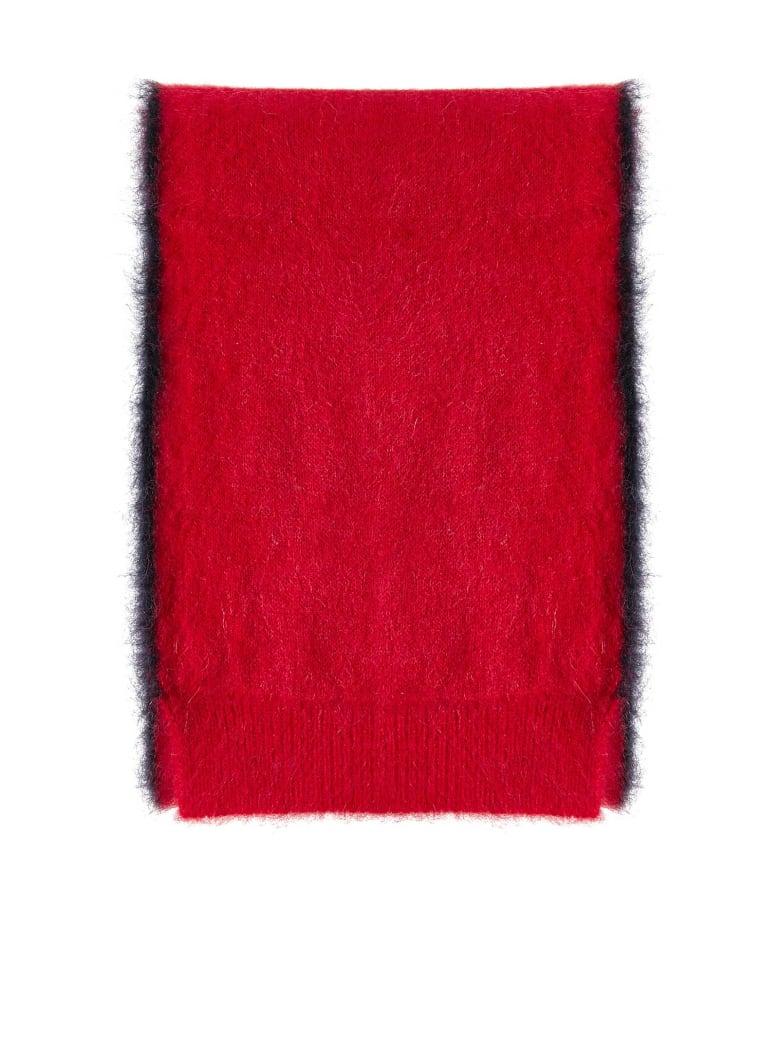 Lanvin Scarf - Red dark blue