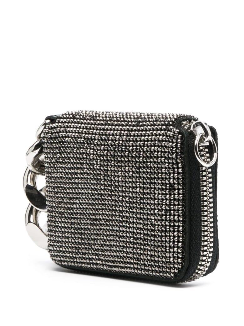Kara Crystal Crossbody Wallet - Grey