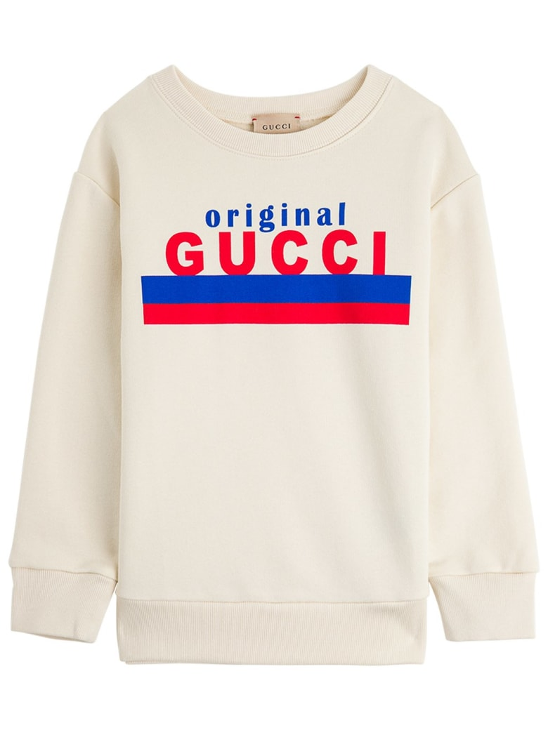 "Gucci Jersey Sweatshirt With ""original"" Print - White"