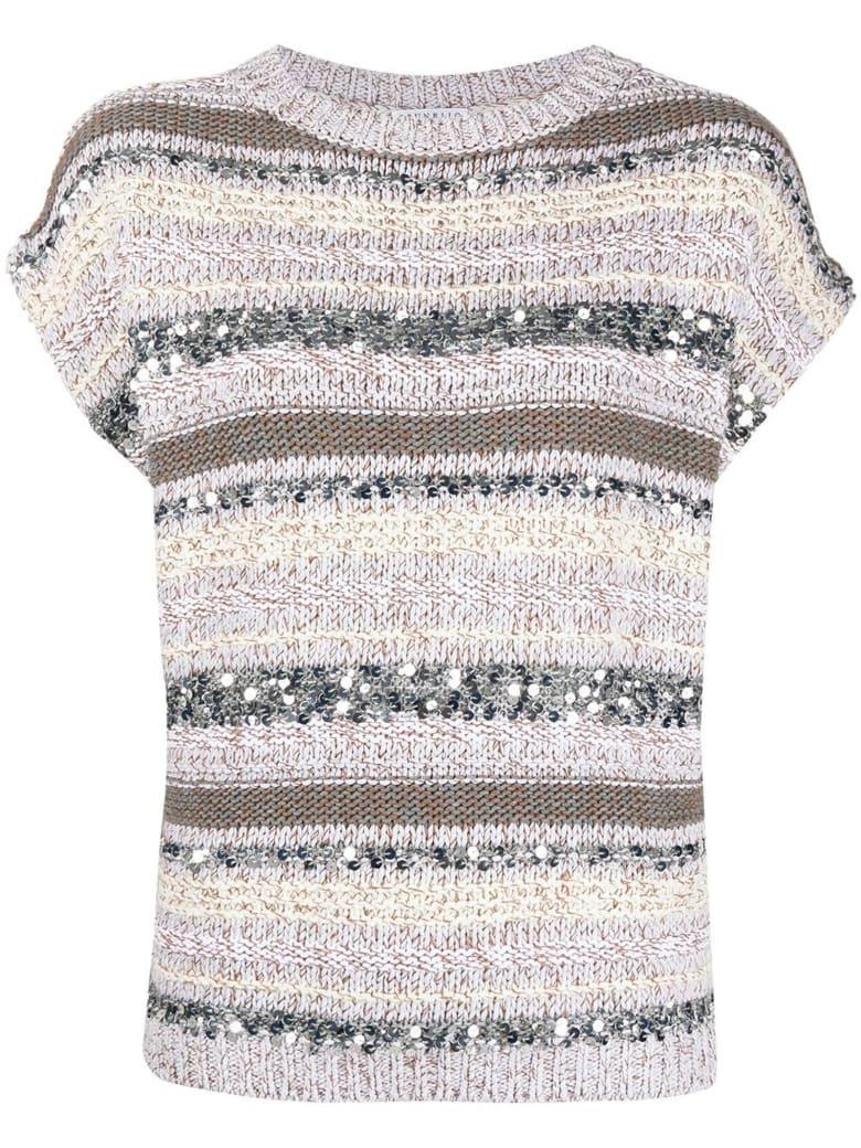 Brunello Cucinelli Cotton Horizontal Stripe Pattern Jumper - Rigato