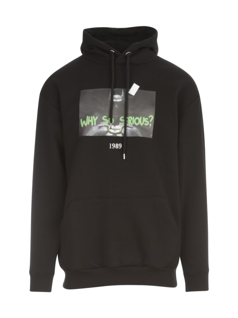 Throwback Sweatshirt Bat Printing - Black