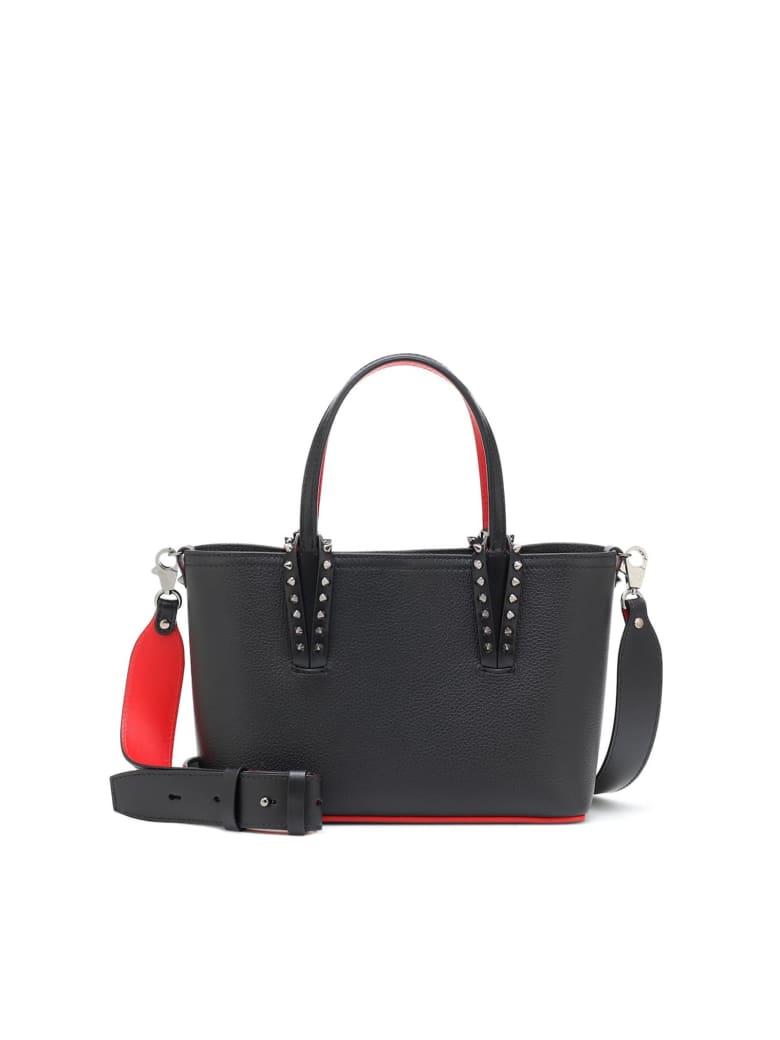 Christian Louboutin Black Leather Cabata Mini Bag - BLACK