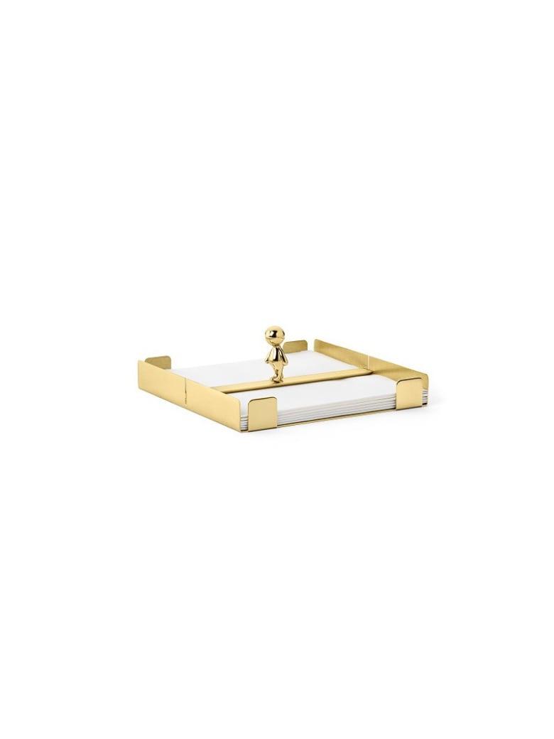 Ghidini 1961 Omini - The Walkman Napkins Tray Polished Brass - Polished brass