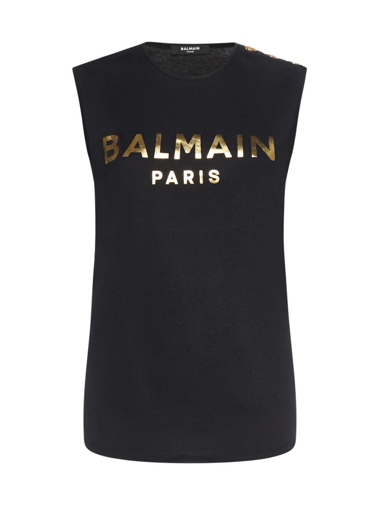 Balmain T-Shirt - Noir or