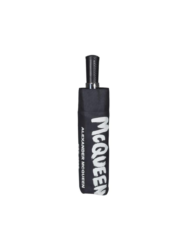Alexander McQueen Umbrella Mcqueen Graffiti - Black Ivory