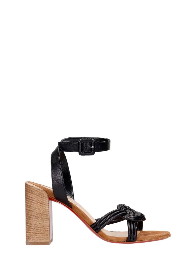 Christian Louboutin Ella 85 Sandals In Black Leather - black