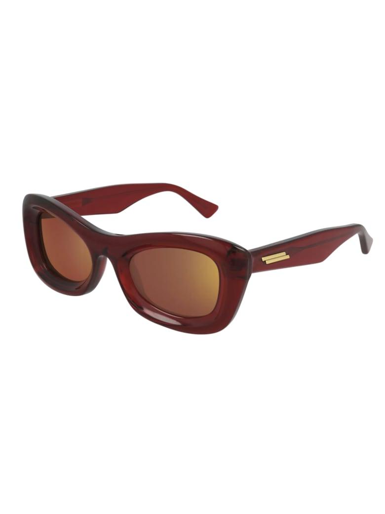 Bottega Veneta BV1088S Sunglasses - Burgundy Burgundy Red