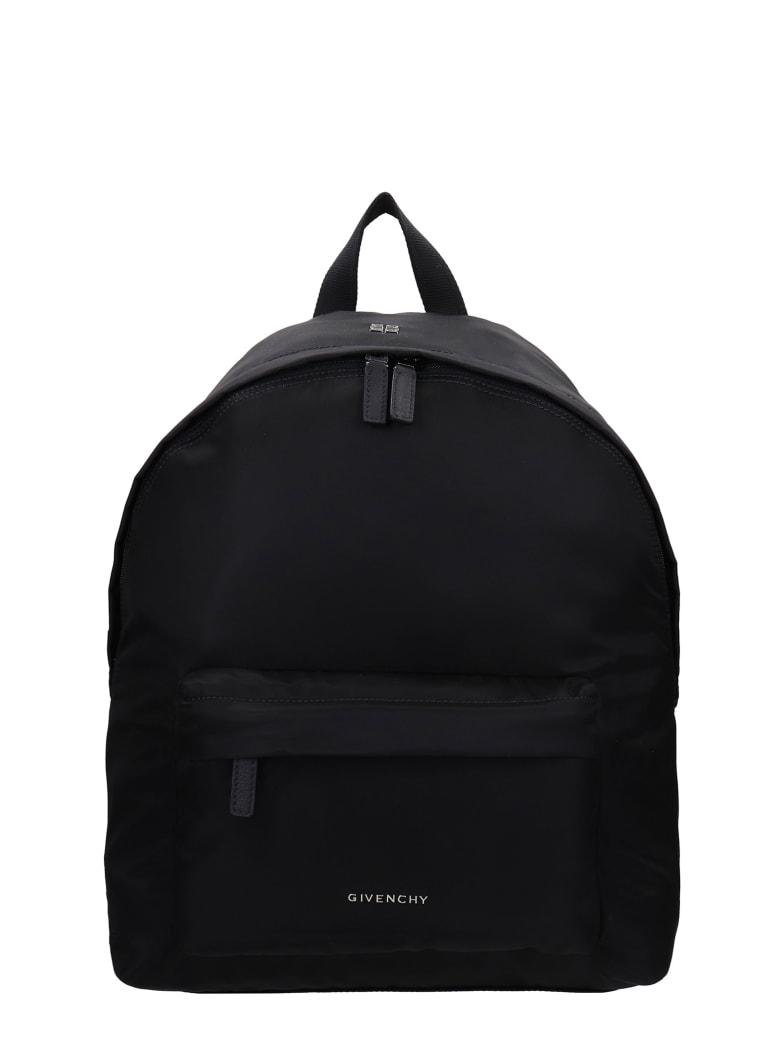 Givenchy Essential Backpack In Black Polyamide - black