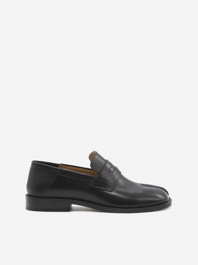Maison Margiela Tabi Leather Loafers - Black