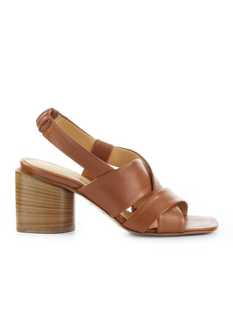 Halmanera Light Brown Nappa Leather Sandal - Caramel