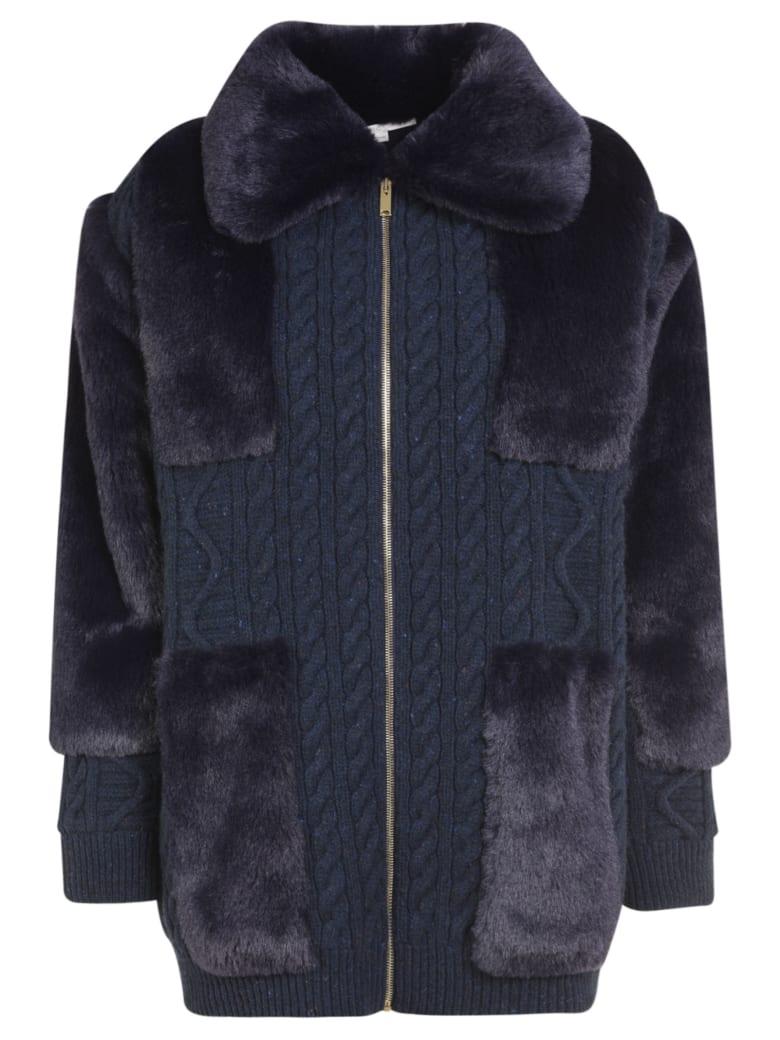 Stella McCartney Fur Zipped Jacket - Blue