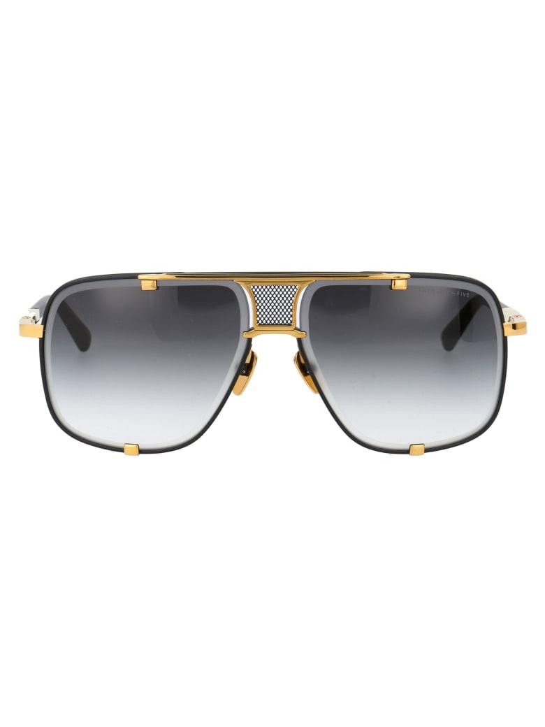 Dita Mach-five Sunglasses - MATTE BLACK YELLOW GOLD W/ DARK GREY TO CLEAR